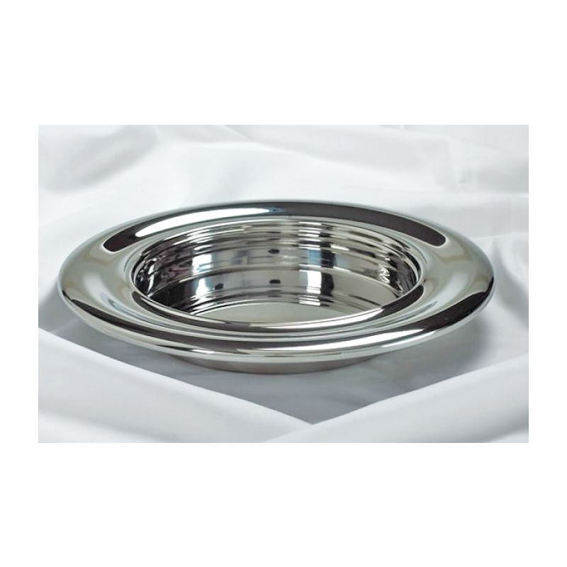 Stainless Steel Stackable Bread Plate- Silvertone