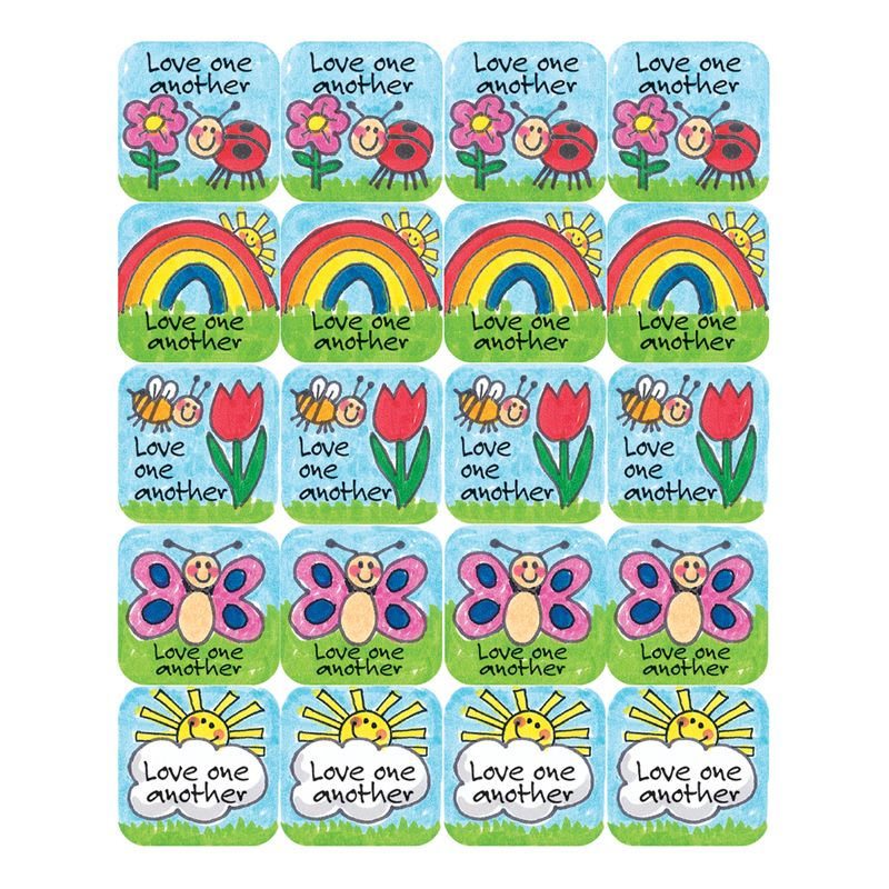 Ten Commandments Stickers - Pack of 120