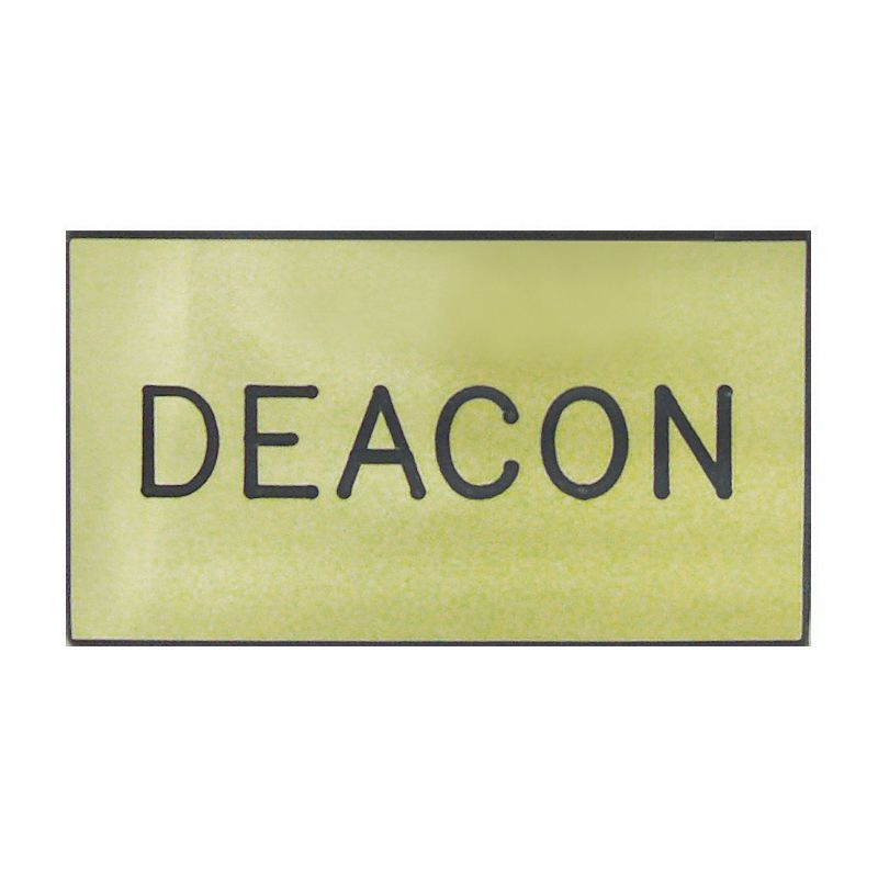 Gold Deacon Engraved Badge