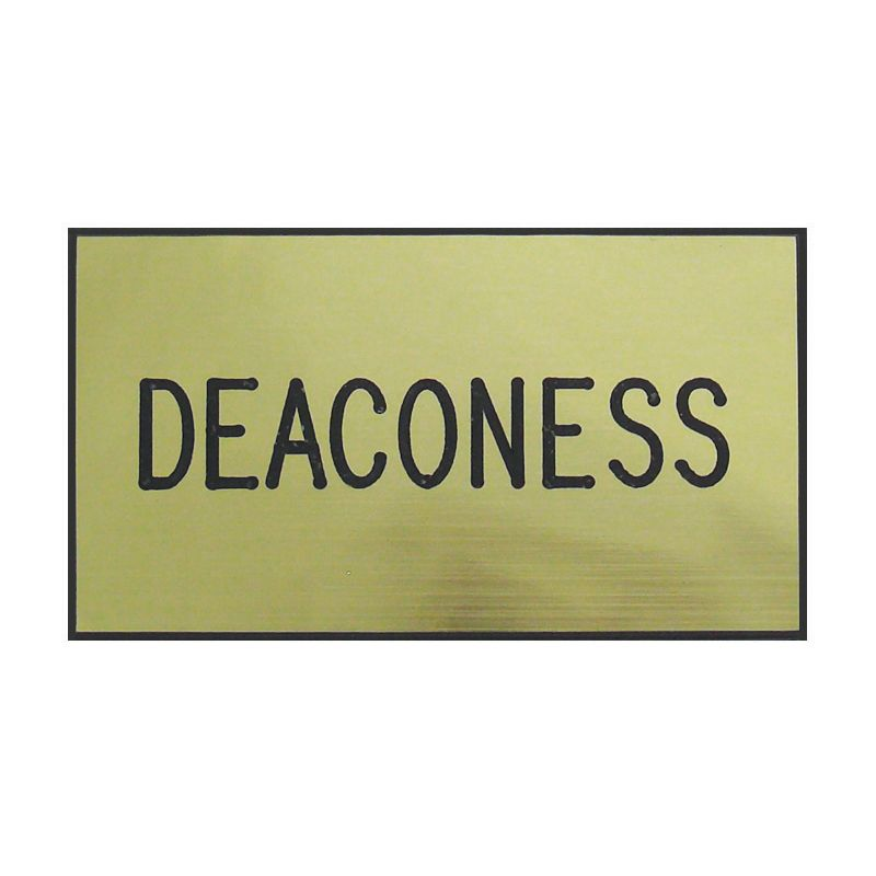 Gold Deaconess Engraved Badge