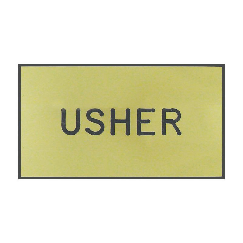 Gold Usher Engraved Badge