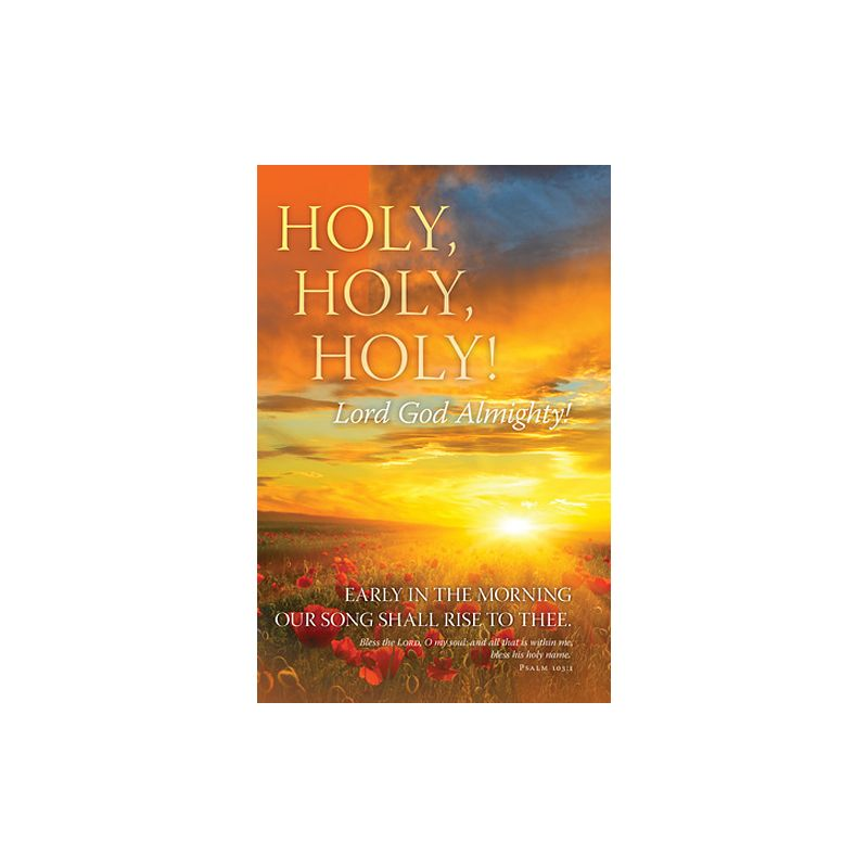 General Worship Bulletin - Holy, Holy, Holy 100 QTY