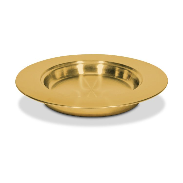 Communion Stacking Bread Plate - Brasstone Stainless Steel - 10 Inch