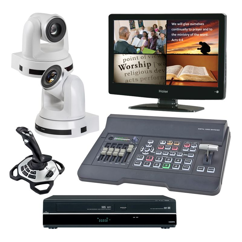 Kingdom HD Computer Controlled 2-Camera System with Refurbished DVD Recorder