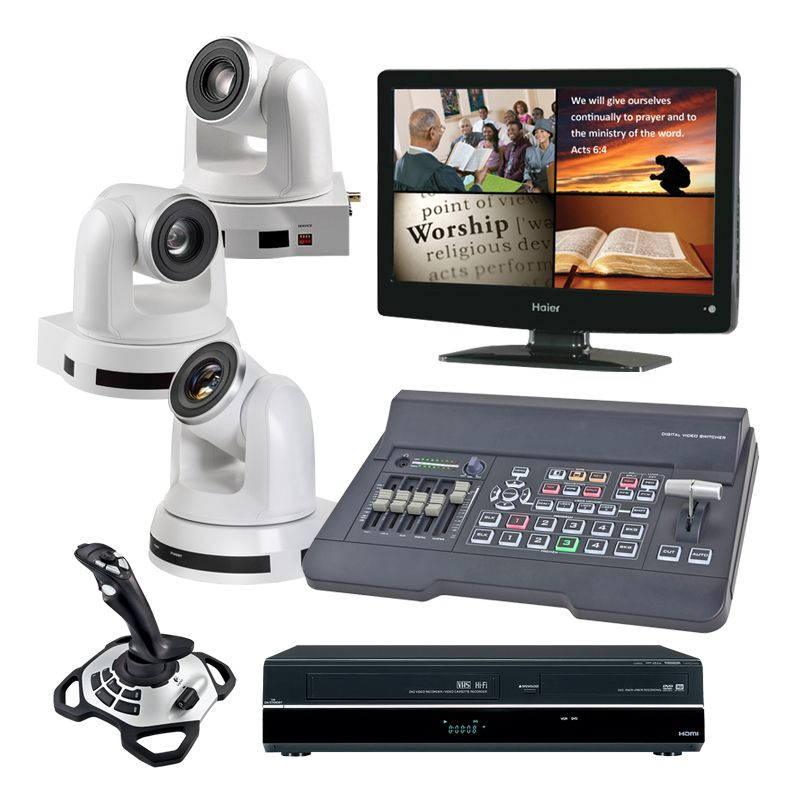 Kingdom HD Computer Controlled 3-Camera System with Refurbished DVD Recorder
