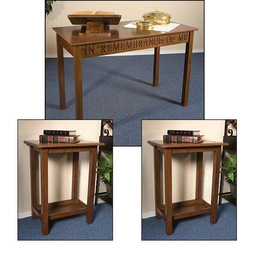 Communion and Offering Table Set - Walnut