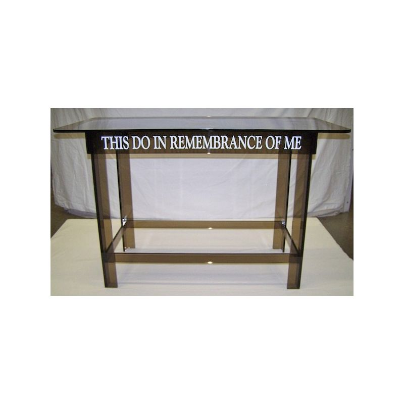 """60"""" Smokey Gray Table - This Do in Remembrance"""