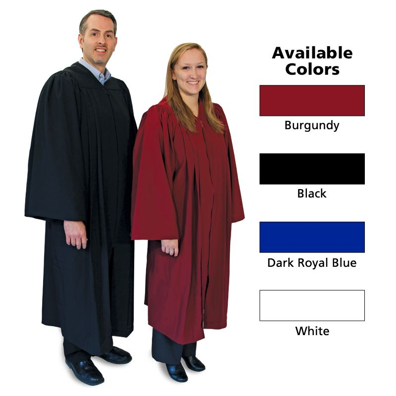 Matte choir robe large black
