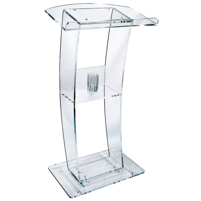 C Style Design Clear Acrylic Lectern