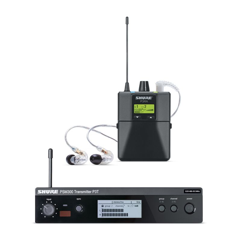 Shure PSM 300 Pro Wireless In-Ear Monitor System with SE215-CL Earphones