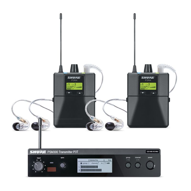Shure PSM 300 Twin-Pack Pro Wireless In-Ear Monitor System with SE215-CL Earphones