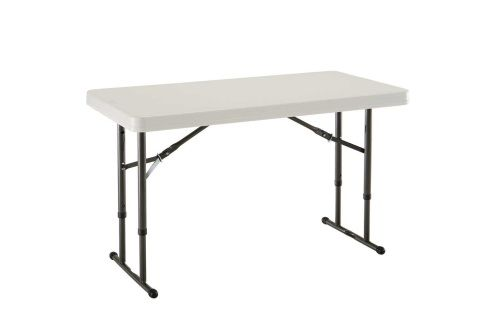 4 Foot Adjustable Height Folding Table