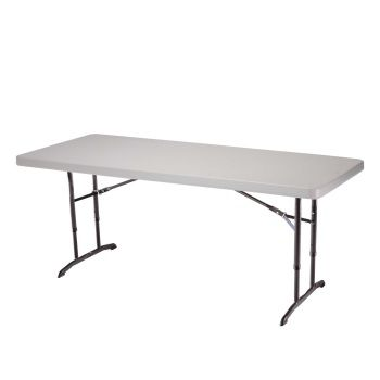 6 Foot Adjustable Height Folding Banquet Table