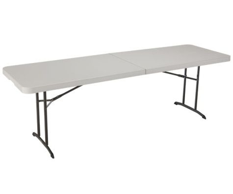 8 Foot Fold-In-Half Commercial Folding Table