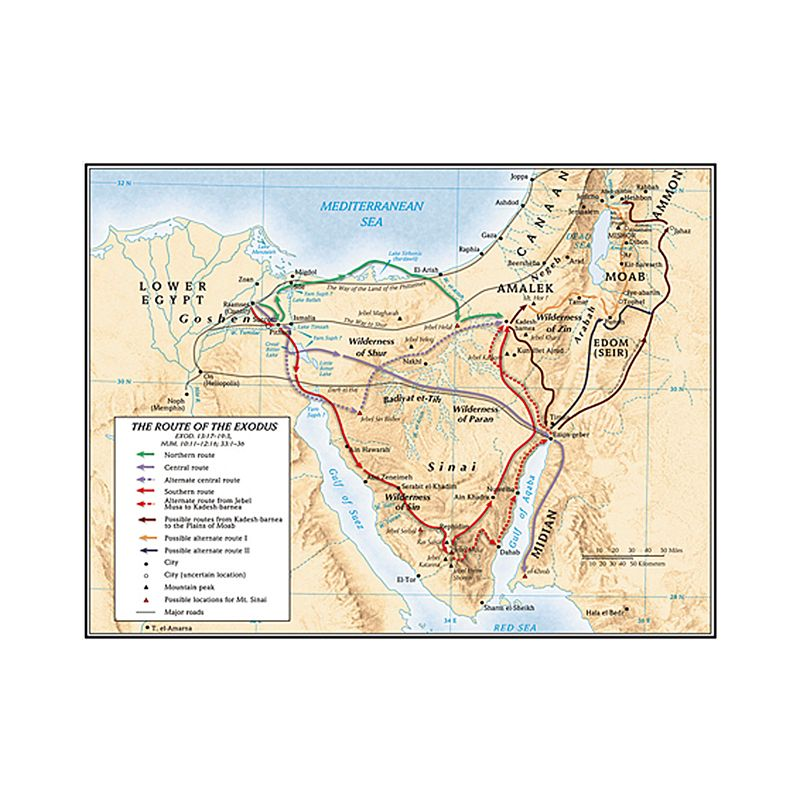 Route of Exodus Map