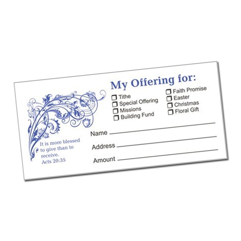 Offering Envelopes with Acts 20:35 pack of 100