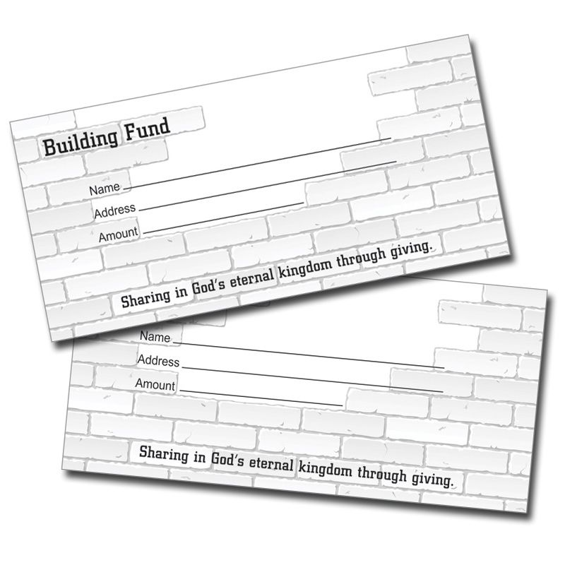 Building Fund Offering Envelopes - 100 Qty