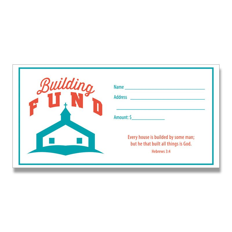 Building Fund Envelopes- 100 QTY