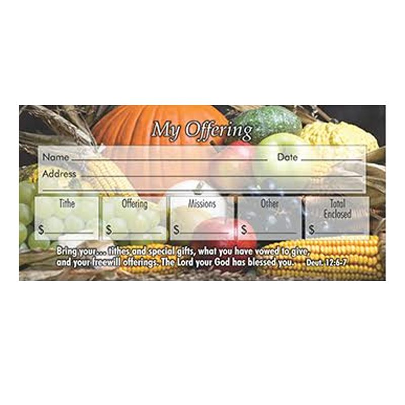 Fall Offering Envelopes pack of 100