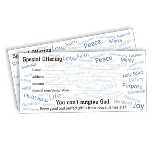 Special Offering Envelopes with James 1:17, 100 Pack