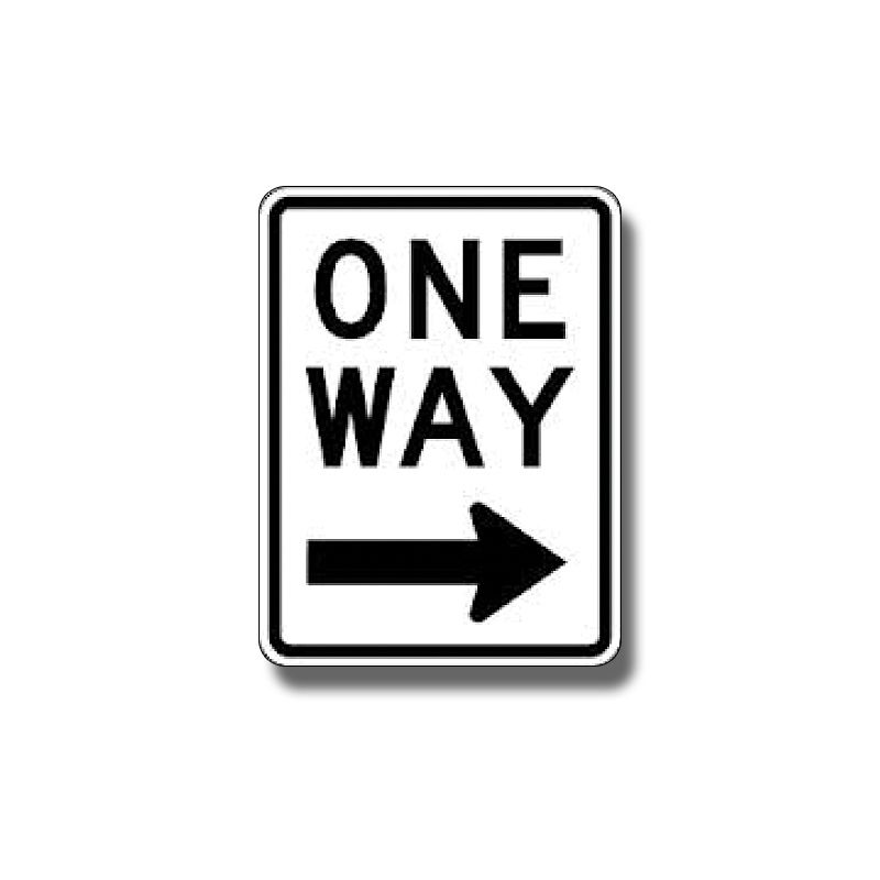 One Way Sign, Right Arrow
