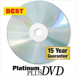 Kingdom Platinum Plus 16X Blank DVD-Rs-Silver Inkjet