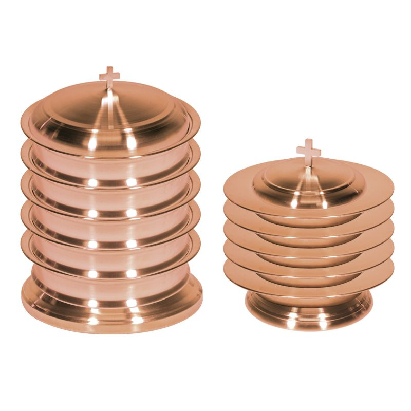 Copper Plated Finish Stainless Steel Communion Ware Set for up to 200
