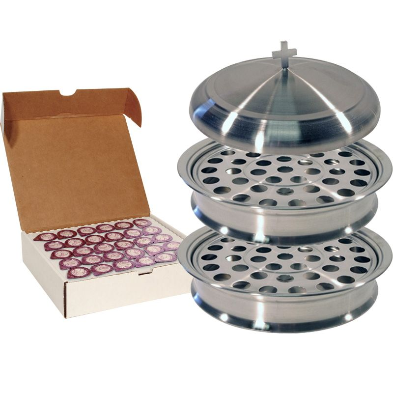 Stainless Steel Communion Set for 60 People