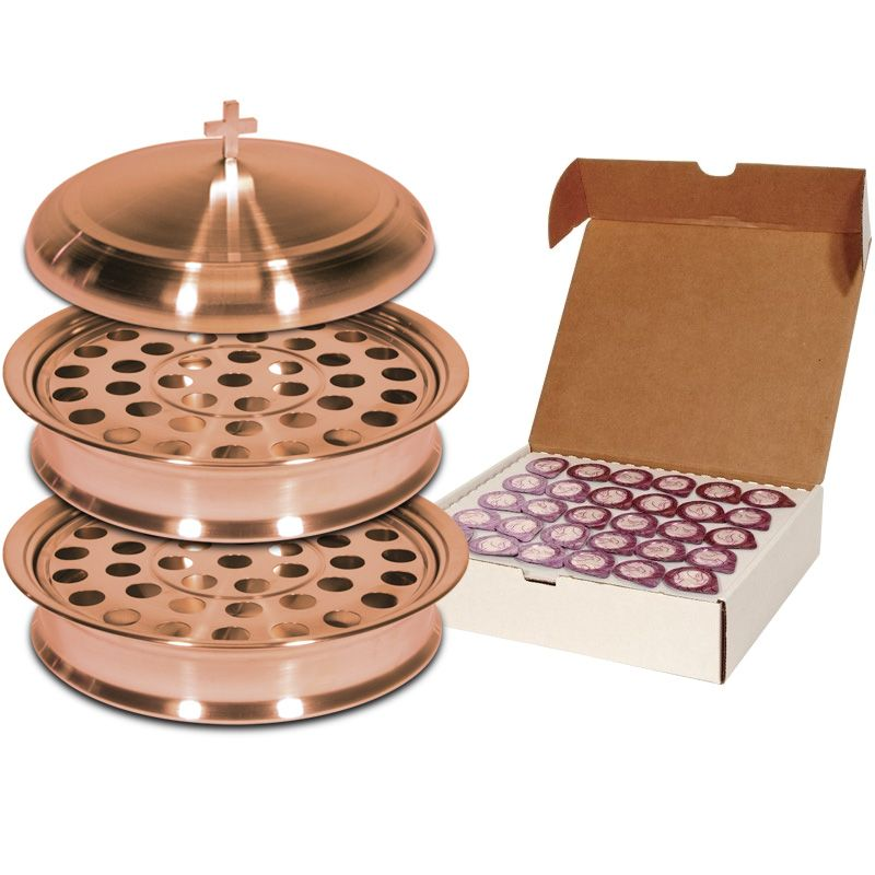 Copper Plated Communion Set for 60 People