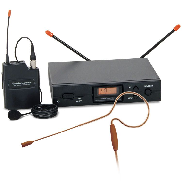 Audio-Technica 2000 Series UHF Wireless Mic System w/Cocoa Earworn Mic