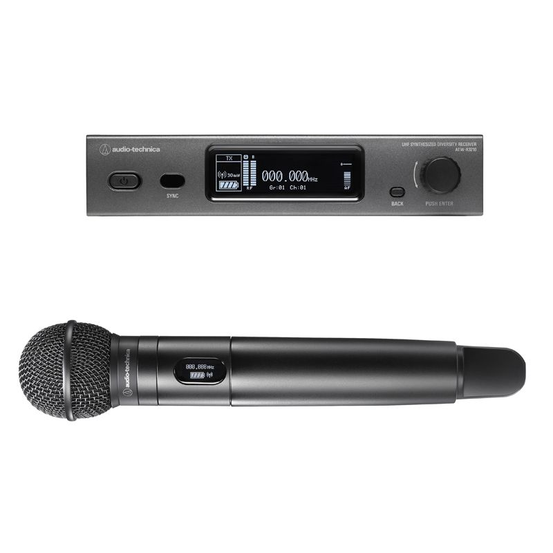 Audio-Technica 3000 Series Handheld Microphone System - 530-590 MHz