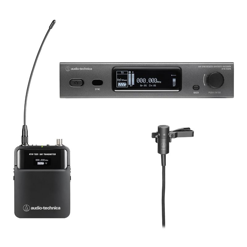 Audio-Technica 3000 Series Lapel Microphone System - 470-529 MHz