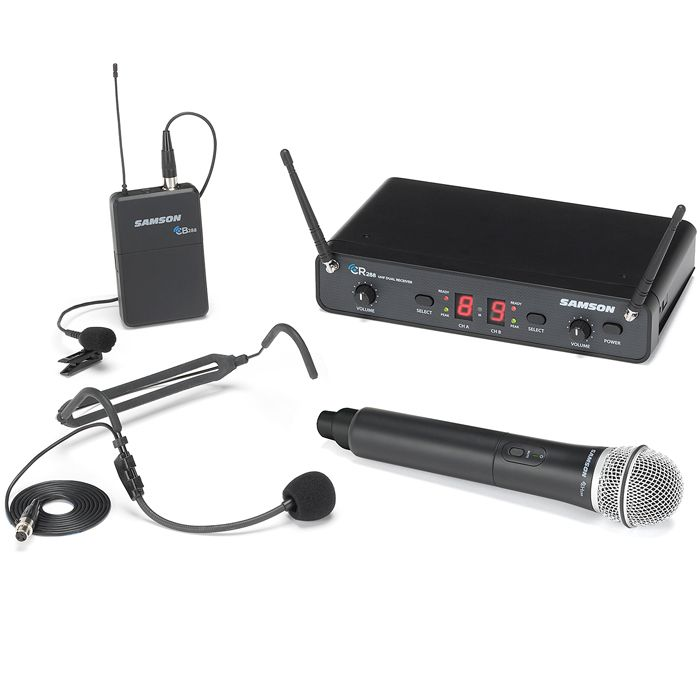 Samson Concert 288 Dual Wireless Microphone - I Band - All-in-One