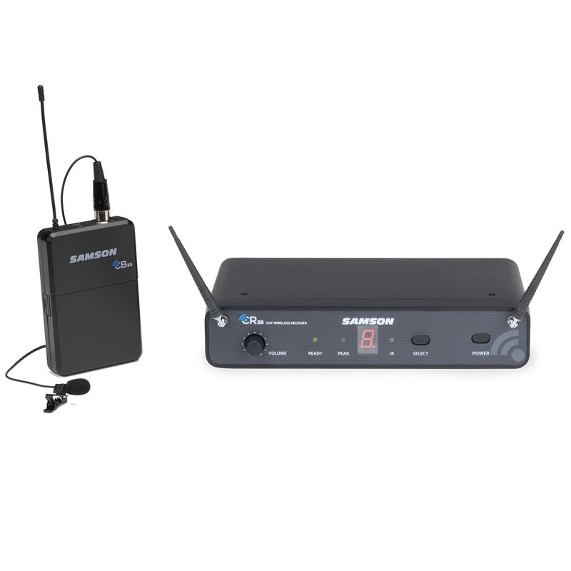 Samson Concert 88 w/LM10 Lavalier UHF Wireless Microphone System
