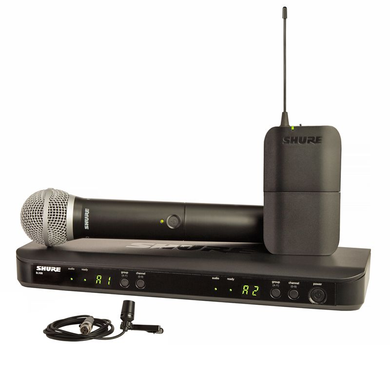 Shure BLX1288/CVL Dual Channel Handheld and Lapel System