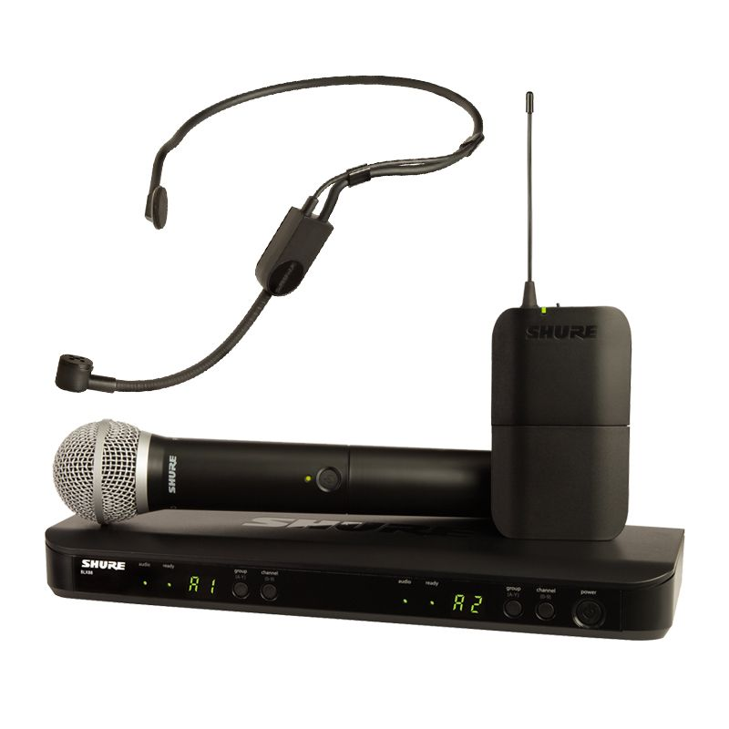 Shure BLX1288/P31 Dual Channel Handheld and Headset System