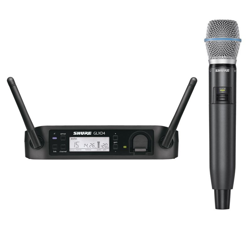Shure GLX-D Digital System GLXD24/BETA87A Wireless Microphone System