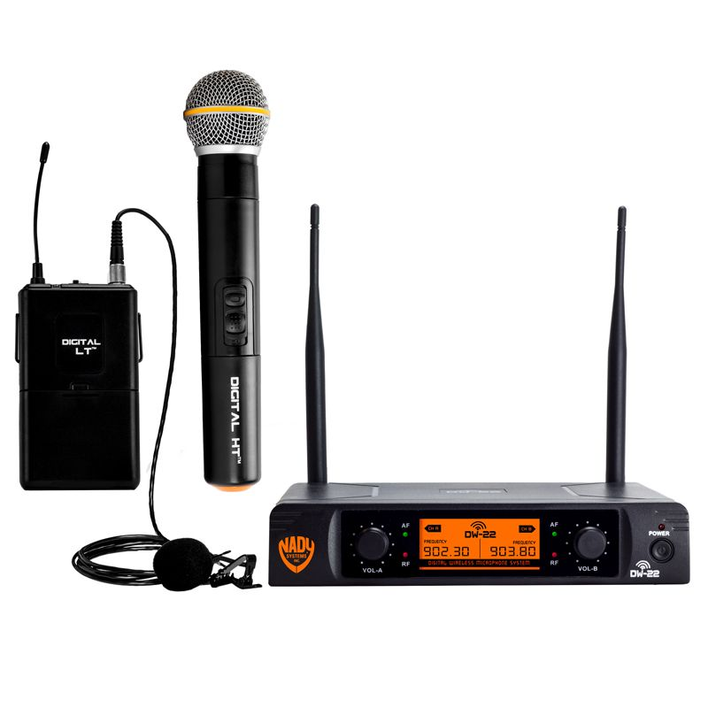 Nady DW-22 Dual Digital Wireless Handheld and Lapel Microphone System