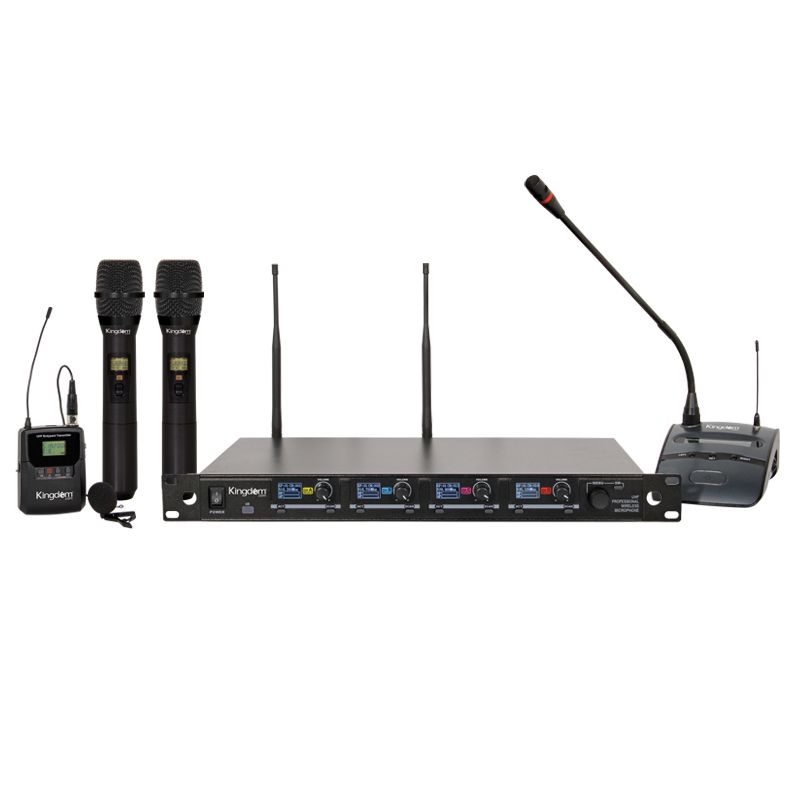 Kingdom V5 Wireless Mic System with 2 Handhelds, 1 Beltpack with Lapel, 1 Podium