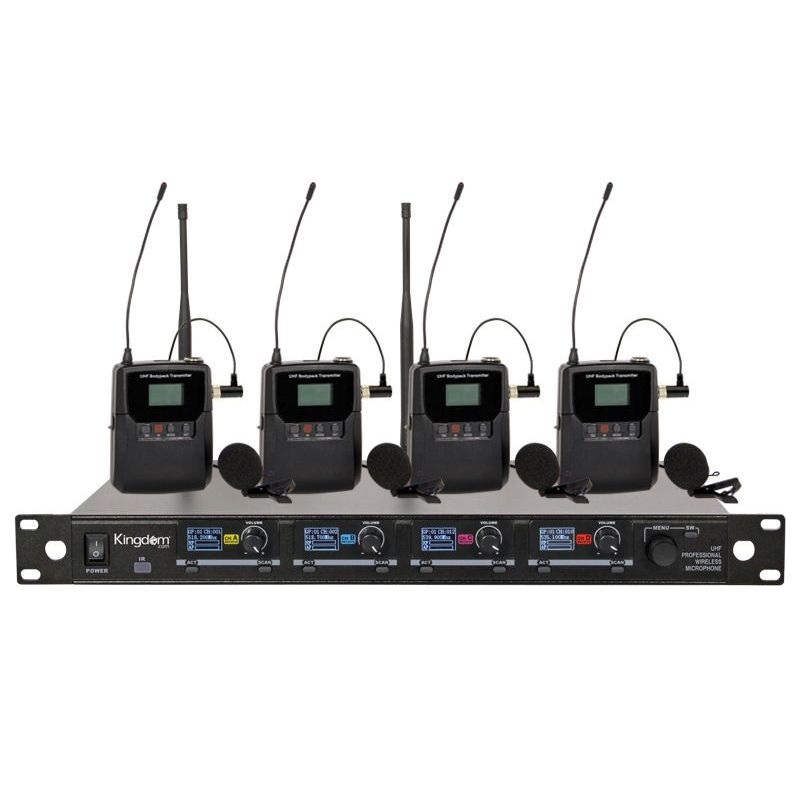 Kingdom V5 Wireless Mic System with 4 Beltpacks with Lapels