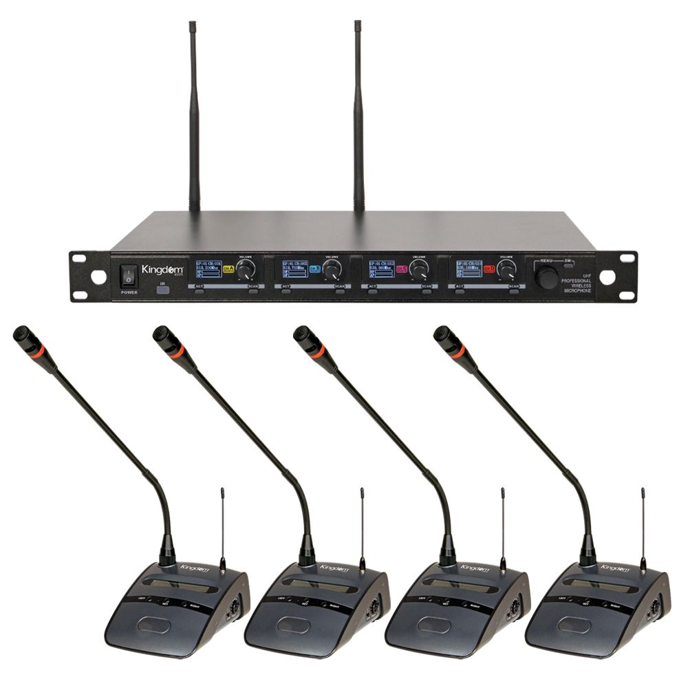 Kingdom V5 4 Podium Wireless Mic System