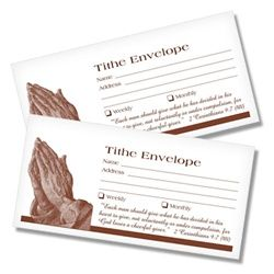 Tithing Envelopes - Praying Hands