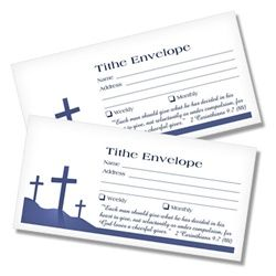 Tithing Envelopes - Three Crosses