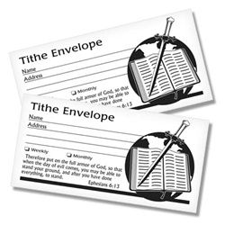 Tithing Envelopes - Sword and Bible