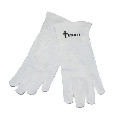 White Usher Gloves - Large