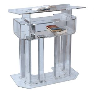 Three-tier Acrylic Lectern Clear