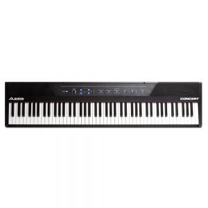 Alesis Concert 88-Key Digital Piano with Full-Sized Keys Semi Weighted Built In Speakers