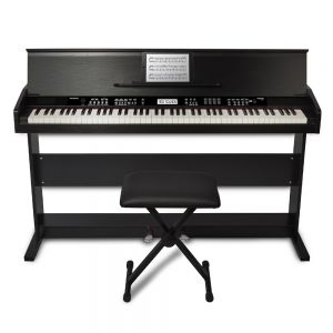 Alesis Virtue (Black) 88-Key Digital Piano with Wooden Stand and Bench