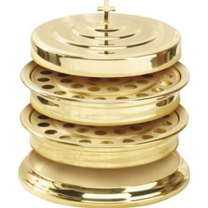 Stacking Communion Ware- Brasstone