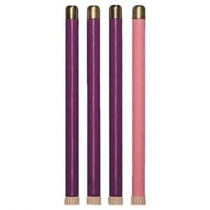 Advent Tube Candles Set of 4